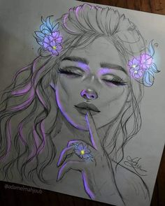 Image uploaded by ~ Miss Mikaela ~. Find images and videos about girl, beauty and art on We Heart It - the app to get lost in what you love. Beautiful Pencil Drawings, Dark Art Drawings, Girly Drawings, Pencil Art Drawings, Realistic Drawings, Girl Drawing Sketches, Art Drawings Sketches Simple, First Art, Beauty Art