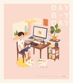 Tante S!fr@ loves this pin 一个人的历险 on Behance Character Illustration, Graphic Design Illustration, Digital Illustration, Graphic Illustration, Cute Sketches, Cute Drawings, Narrativa Digital, Cute Gif, Illustrations And Posters