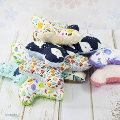 Poduszki motylki minky i kolorowa bawełna