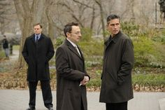 Jim Caviezel and Michael Emerson in Person of Interest (center and right)