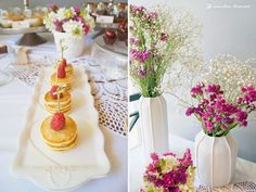 Details of the food table for this hippie chic themed baby shower