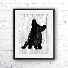 French Bulldog art illustration print dog art French Bulldog