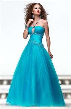 Sleeveless Halter Applique Ball Gown Sweet 16