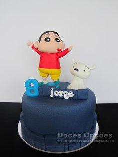 Doces Opções: O Shin Chan no 8º aniversário do Jorge