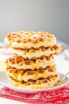 Belgian Waffle Recipe, Liege Waffles- Baker Bettie One Waffle Recipe, Waffle Recipes, Brunch Recipes, Liege Waffle Recipe Easy, Waffle Recipe With Yeast, Breakfast Recipes, Mexican Breakfast, Waffles, Breakfast