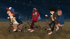 ♡ stranger things ♡ by Nicole Janér - Dustin Henderson, Lucas Sinclair, Mike Wheeler, and Eleven