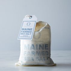 Maine Farmed Sea Salt, 1lb Harvested fresh from the ocean and sun-dried on Bailey Island, Maine, this salt gets its crisp and unique flavor from the mineral rich saline waters of the Gulf of Maine.