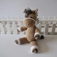 Henry the Horse Knitting pattern by Amanda Berry Knitted Doll Patterns, Knitted Dolls, Knitting Patterns, Knitting Ideas, Amanda, Berry, Horse Pattern, Little Falls, Stuffed Toys Patterns