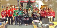 We love this photo of our team in Stockton looking fab in their knitwear for #ChristmasJumperDay