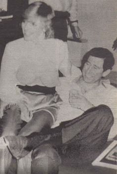 Amazing--he's touching her. NO, sorry--SHE'S touching him. Diana, Princess of Wales and Charles, Prince of Wales