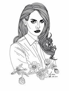 Lana Del Rey Print by Skllsandothrcoolstff on Etsy https://www.etsy.com/listing/179785628/lana-del-rey-print