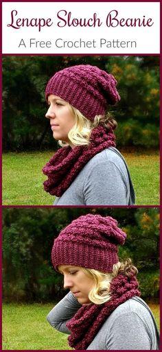 The Lenape Slouch Beanie — FREE crochet pattern