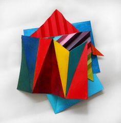 Artist: Mary Zehngut Title: Zig Zag 2 Medium: Acrylic and Paper Gallery: Jeffrey Leder Gallery Location: Queens