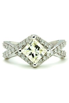 Unique Engagement Ring - Beyond the Rack - Would like it better if it was less yellow