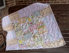 Hello World Pink Baby Girl Quilt