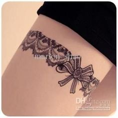 garter tattoo on thigh - Поиск в Google by tabatha