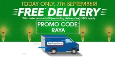 NTUC Fairprice Singapore Hari Raya Haji FREE DELIVERY Promotion 7 Sep 2016