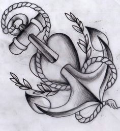 i dont know what it is about nautical stuff and me latly but I will not sink Anchor Sketch, Spray Paint Artwork, Dragon Tattoo Art, Tattoo Project, Great Tattoos, Colorful Pictures, Tattoo Inspiration, Coloring Pages, Graffiti
