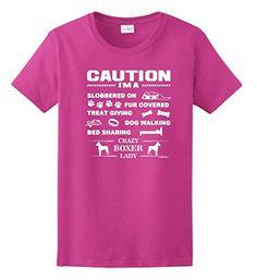 I'm a Crazy Boxer Lady, Dog Lover's Ladies T-Shirt http://amzn.to/2oIxqbK