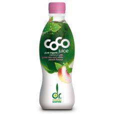 Kokoswater Green Tea & White Peach - 330 ml/ PET flesje (Dr. Martins)