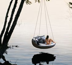 French designer Daniel Pouzet designed a hanging outdoor lounge chair, named 'swingrest', for Dedon. Images © Dedon With a basket-like aesthetic from 'nestrest'…