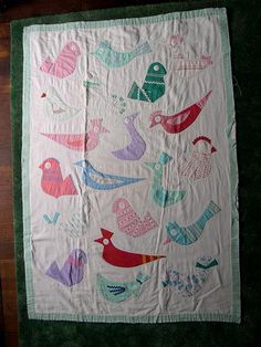 Bird Quilt by Pearlzenith, via Flickr