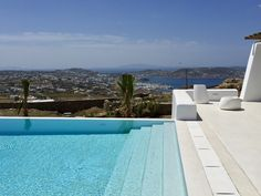 The 7 bedroom Villa Zircon on Mykonos island, is set on a panoramic location with a private pool. Diles Villas is a collection of villas and vacation rentals, on some of the most popular spots of Mykonos island. Mykonos Villas, Mykonos Island, Villa With Private Pool, Vacation Villas, Greece, Sea, Amazing, Outdoor Decor, Travel