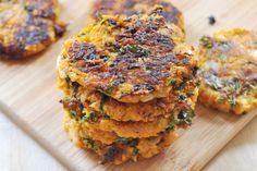 Vegan, Gluten-Free Chanukah: Sweet Potato and Kale Latkes - The Colorful Kitchen