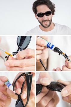 Cómo arreglar unas gafas rotas ¿Se te han roto las gafas?  ➜  No te preocupes: te enseñamos cómo repararlas en menos de cinco minutos.  #Gafas #DIY #Reparar #Arreglar #HowTo