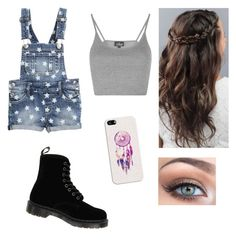 """""""Overalls look"""" by kristenbreannn on Polyvore featuring Topshop, Dr. Martens, Casetify and Victoria's Secret"""