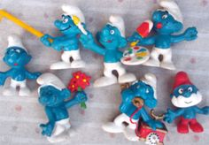 Vintage smurfs!! I had all of these growing up! :)