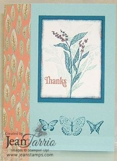 Kindness Matters Stampin' Up! Card with Nature Walk and Paisley Petals