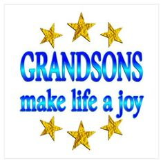 All my grandchildren are boys.  We are blessed with 5 grandsons.  While a grandgirl would be nice, we wouldn't give up a one of them!