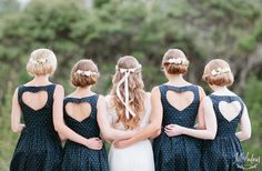 blue short bridesmaid dresses with heart back