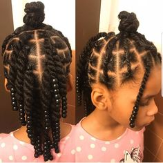 ✨This style is for the non-braiders out there.✨ This style was done on blow dried hair. Products used: Candice Cantu leave in SheaMoisture curl… Black Toddler Hairstyles, Little Girls Natural Hairstyles, Cute Little Girl Hairstyles, Baby Girl Hairstyles, Kids Braided Hairstyles, African American Girl Hairstyles, Hairstyles Videos, Natural Hair Braids, Braids For Black Hair