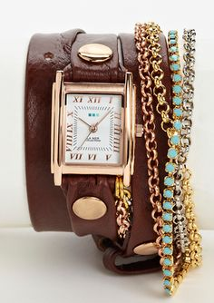 just bought this watch for myself :) love it!  LA MER COLLECTIONS Triple Wrap Chain & Crystal Watch