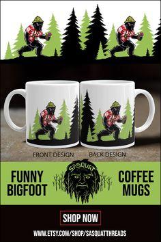 Funny Bigfoot Tourist Mug Yeti Bigfoot, Bigfoot Sasquatch, House Repair, Ocean Cruise, Adventure Gifts, Coffeecup, Cryptozoology, Unique Coffee Mugs, Coffee Humor