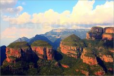 """""""Three Rondavels - South Africa"""" available as an art print or poster of the photo agency """"Posterlounge""""  http://www.posterlounge.de/three-rondavels-gebirgslandschaft-in-suedafrika-pr460963.html"""
