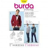 Burda Style, Jacket & Shirt size 34-46 B7734