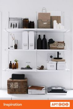Simple shelving or bookcases are fabulous places for storage and display. #APTCB2 #inspiration