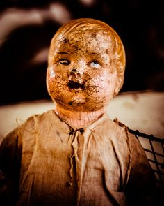 Antique Doll Photo  Creepy Doll  Vintage Toy  by Squintphotography, $35.00