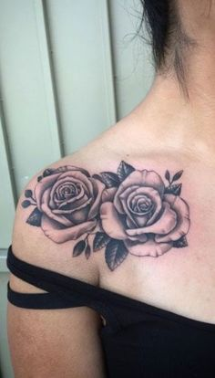 Internet, 3d, Best Shoulder Tattoos, Girl Shoulder Tattoos, Blossom Tattoo, Floral Shoulder Tattoos, Shoulder Tattoo, Roses