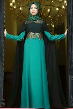 Latest Fancy Party Wear Formal Hijabs Abaya Evening Dresses iclude designs of embroidered abayas, lace work, fishtail gowns, butterfly abayas Islamic Fashion, Muslim Fashion, Modest Fashion, Model Kebaya Muslim, Muslim Dress, Hijab Abaya, Hijab Dress, Hijab Outfit, Estilo Abaya