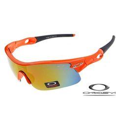 13874e4e959 Oakley Radar Pitch Sunglasses With Orange Flare Frame Fire Iridium Lens