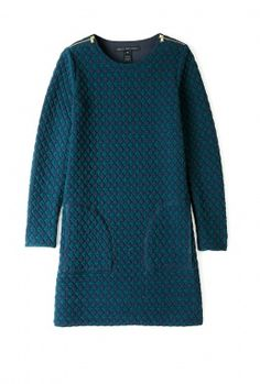 Quilted Argyle Long Sleeve Shift Dress by Marc By Marc Jacob