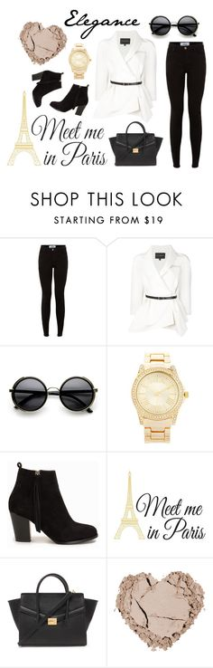 """""""Meet me in Paris"""" by aurorabc ❤ liked on Polyvore featuring Carolina Herrera, Forever 21, Nly Shoes and WallPops"""