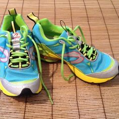 New! Newton Running Shoes NWOT Pretty colors..Great shoe! Never worn..bought two pairs, I wear one and would like to sell this pair. Runs about a half size smaller. Newton Shoes Athletic Shoes