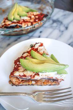 Southwestern Chicken Taco Pie-3