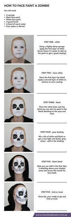 tutorial - caveira, pintura facial