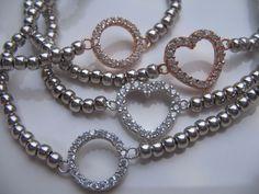 Qudo Armband 925 Sterlingsilber * roségold * LIMOUX * Herz Kreis
